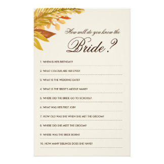 How well do you know the Bride Game Flyer Design