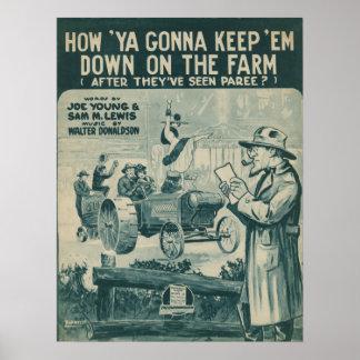 How Ya Gonna Keep 'Em Down On The Farm Poster