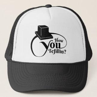 """How You Tefillin"" (Black) Trucker Hat"