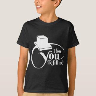 """How You Tefillin"" (White) T-Shirt"
