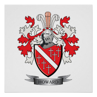 Howard Coat of Arms Poster