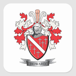 Howard Coat of Arms Square Sticker