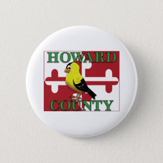 HOWARD COUNTY with goldfinch 2 Inch Round Button