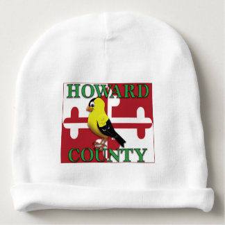 HOWARD COUNTY with goldfinch Baby Beanie