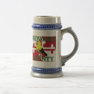HOWARD COUNTY with goldfinch Beer Stein