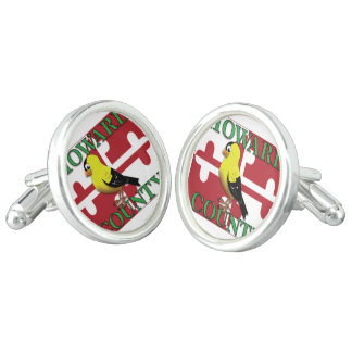 HOWARD COUNTY with goldfinch Cuff Links