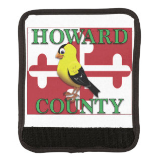 HOWARD COUNTY with goldfinch Luggage Handle Wrap
