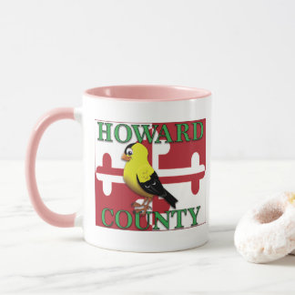 HOWARD COUNTY with goldfinch Mug