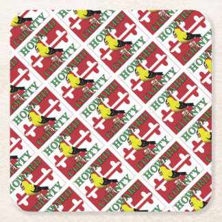 HOWARD COUNTY with goldfinch Square Paper Coaster