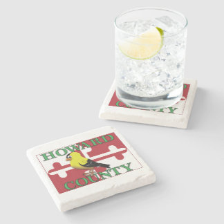 HOWARD COUNTY with goldfinch Stone Coaster