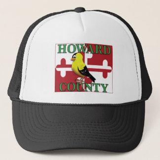 HOWARD COUNTY with goldfinch Trucker Hat
