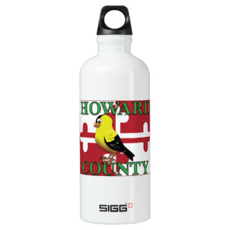 HOWARD COUNTY with goldfinch Water Bottle