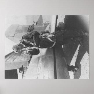 Howard Hughes Pilot Boarding Plane in Full Poster
