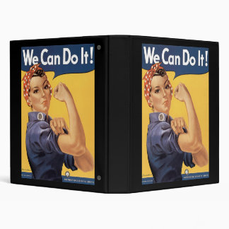 Howard Miller We Can Do It Rosie the Riveter Vinyl Binder