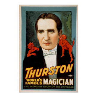 Howard Thurston Magic Advertisement Poster