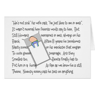 """""""Howards Bedsores""""  Twisted Story Art Gifts Card"""