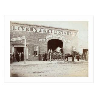 Howard's Stable, John W. Booth, Washington, DC Postcard