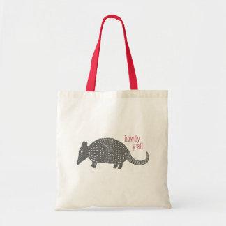 Howdy Armadillo Texas Tote Bag