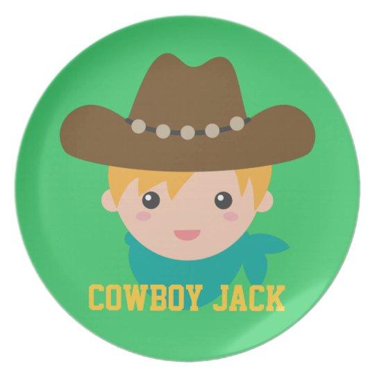 Howdy, Cute Cowboy, For boys Plate
