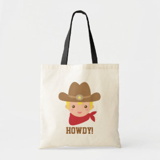 Howdy, Cute Cowboy for little boys Tote Bag