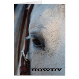 Howdy Horse Greeting Card