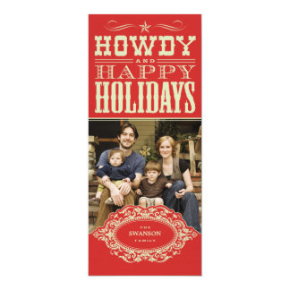Howdy Western Christmas Photo Cards
