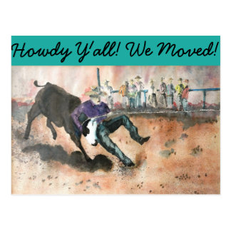 Howdy Y'all! We moved! postcards