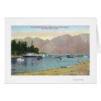 Howe Sound View of Union Steamer at Bowen Island Card