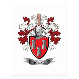 Howell Family Crest Coat of Arms Postcard