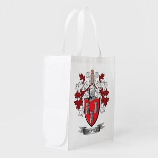 Howell Family Crest Coat of Arms Reusable Grocery Bag