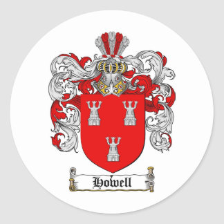 HOWELL FAMILY CREST -  HOWELL COAT OF ARMS CLASSIC ROUND STICKER