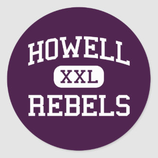 Howell - Rebels - High - Farmingdale New Jersey Classic Round Sticker