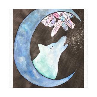 """Howl at The Moon"" Canvas Print"
