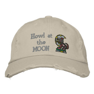 Howl at the MOON Embroidered Hat