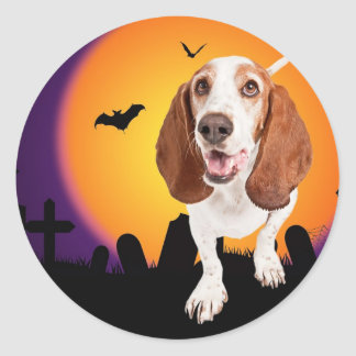 HOWL O Ween Classic Round Sticker