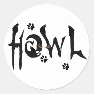 Howl Wolf Sticker