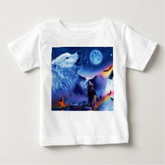 Howlin wolf - white wolf - wolf art - snow wolf baby T-Shirt