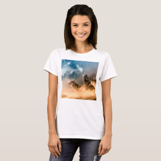 Howlin wolf - wolf art - moon wolf - forest wolf T-Shirt