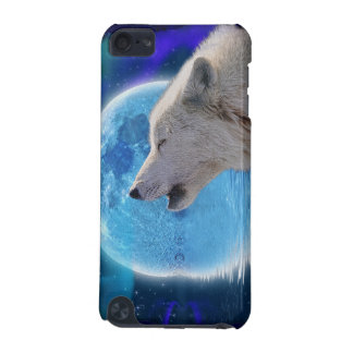 Howling Arctic Wolf, Moon Wildlife Ipod Touch Case