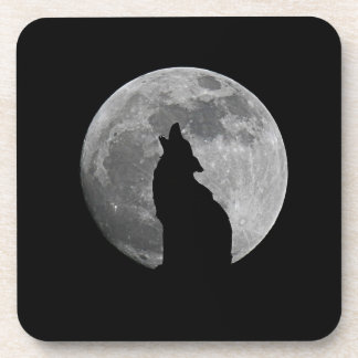 HOWLING AT THE MOON DRINK COASTERS