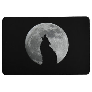 HOWLING AT THE MOON FLOOR MAT