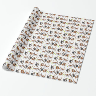 Howling Basset Hound Dogs Gift Wrap