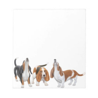 Howling Basset Hound Dogs Notepad
