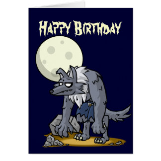 Howling Birthday Card