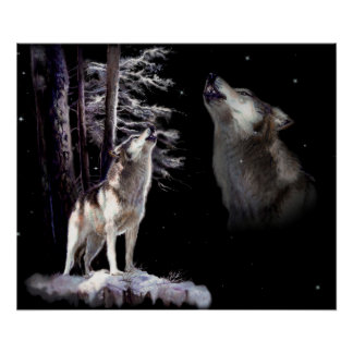 Howling Memory, wolf Poster