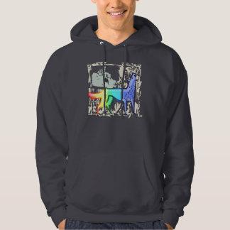 Howling Rainbow Wolf Hoodie