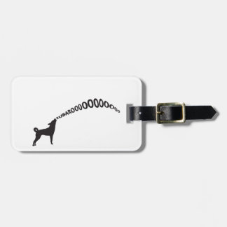 Howling Subaru Dog Luggage Tag