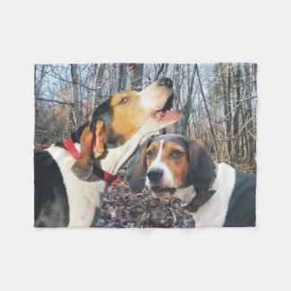 Howling Treeing Walker Coonhound Fleece Blanket