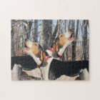 Howling Treeing Walker Coonhounds Jigsaw Puzzle