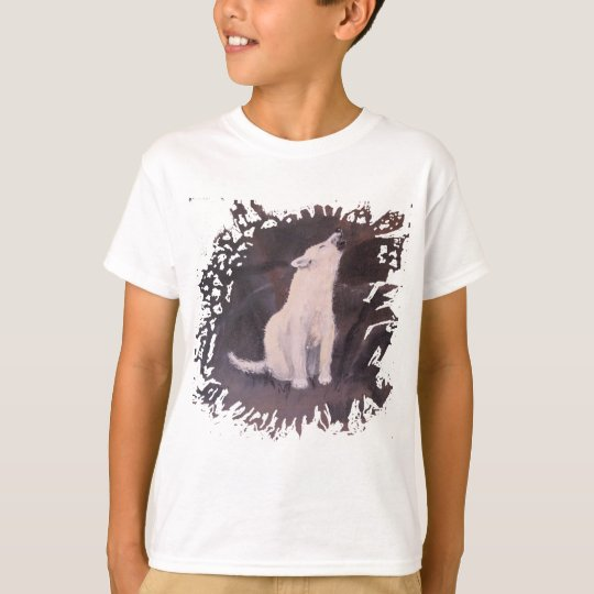 """Howling White Wolf"" Girl's T-shirt"